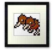 Pokemon 8-Bit Pixel Doduo 084 Framed Print