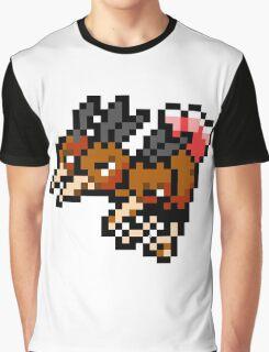 Pokemon 8-Bit Pixel Dodrio 085 Graphic T-Shirt