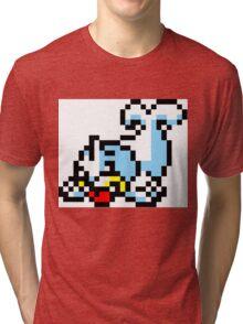 Pokemon 8-Bit Pixel Seel 086 Tri-blend T-Shirt