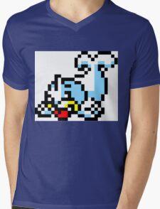 Pokemon 8-Bit Pixel Seel 086 Mens V-Neck T-Shirt