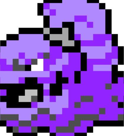 Pokemon 8-Bit Pixel Muk 089 Sticker