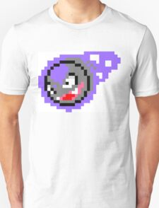 Pokemon 8-Bit Pixel Gastly 092 Unisex T-Shirt