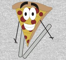 Skiing Pizza One Piece - Long Sleeve