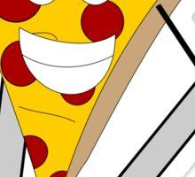 Skiing Pizza Sticker