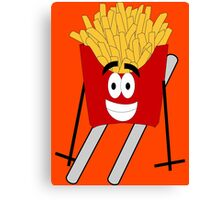 Skiing - French Fry Canvas Print