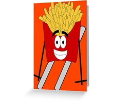Skiing - French Fry Greeting Card