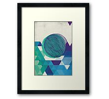 blue  / green geometric Framed Print