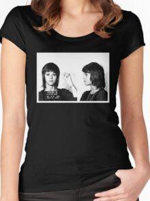 Jane Fonda Mugshot  Women's Fitted Scoop T-Shirt