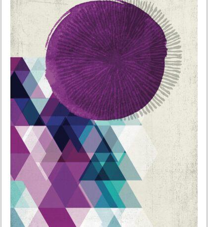 purple / blue / green abstract Sticker