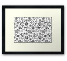 Black and withe lace Framed Print