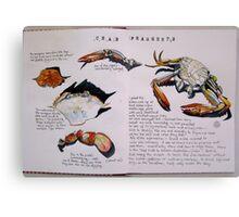 Crab Fragments Canvas Print
