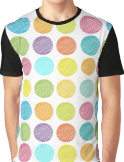 Rainbow colour Polka dot background Graphic T-Shirt