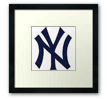 New York Yankees logo 2 Framed Print