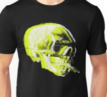 Van Gogh Skull with burning cigarette remixed x Unisex T-Shirt