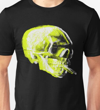 Van Gogh Skull with burning cigarette remixed x Unisex T-Shirt