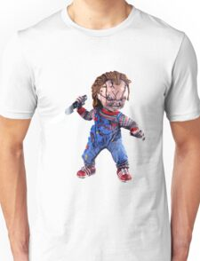 chucky, doll, hell, evil, horror, chukky, chuky,  Unisex T-Shirt