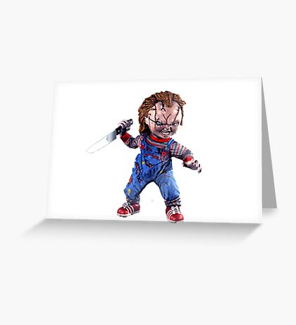 chucky, doll, hell, evil, horror, chukky, chuky,  Greeting Card
