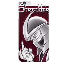 The Shredder - Ninja Master Maroon iPhone Case/Skin