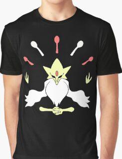 Mega Alakazam Design Graphic T-Shirt