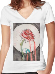 Bloody Rose Women's Fitted V-Neck T-Shirt