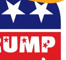 Donald Trump For President GOP Elephant Hair ©TrumpCentral.org Sticker