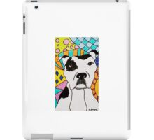 White Spotted Pit Bull iPad Case/Skin
