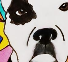 White Spotted Pit Bull Sticker