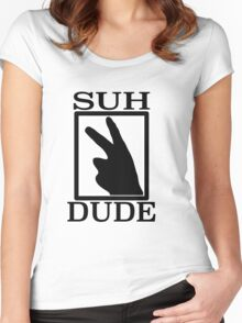 SUH DUDE BLACK Women's Fitted Scoop T-Shirt