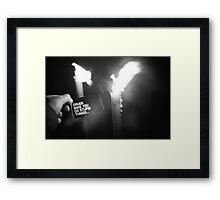 Drugs make you do stupid things. Framed Print