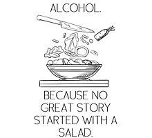ALCOHOL vs SALAD Photographic Print