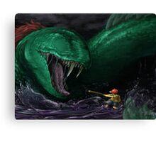 Kraken Blocked The Way Canvas Print