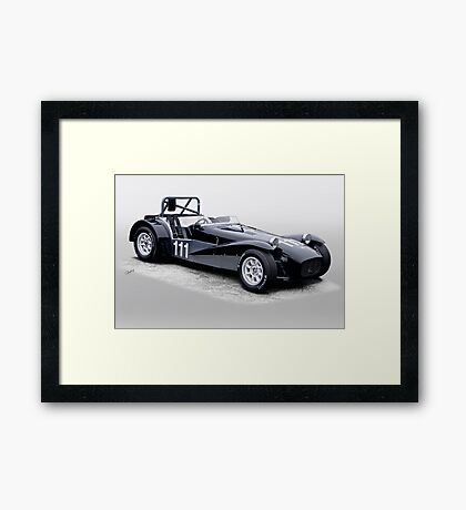 1962 Lotus Super 7 Vintage Racecar Framed Print