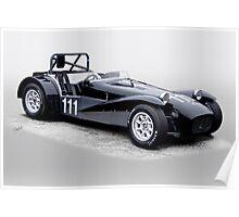 1962 Lotus Super 7 Vintage Racecar Poster