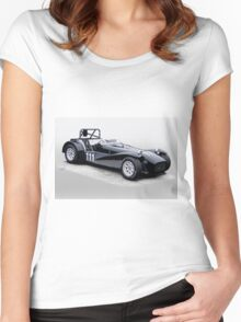 1962 Lotus Super 7 Vintage Racecar Women's Fitted Scoop T-Shirt