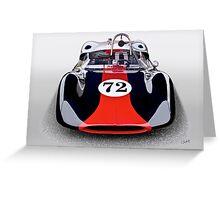 1963 Genie Mk 5 Vintage Racecar I Greeting Card
