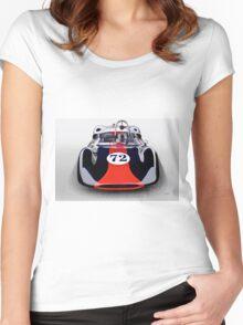 1963 Genie Mk 5 Vintage Racecar I Women's Fitted Scoop T-Shirt