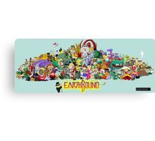 Earthbound Poster - Good Friends, Bad Friends Canvas Print