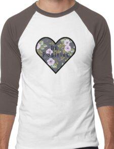 Be Positive Mantra Girly HEART FLOWER Men's Baseball ¾ T-Shirt
