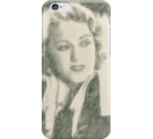 Fay Wray Hollywood Vintage Actress iPhone Case/Skin