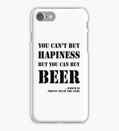 BEER IS HAPINESS iPhone Case/Skin