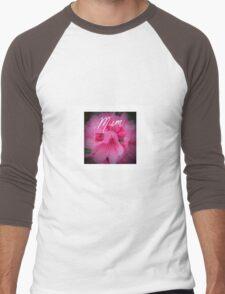 Pink flower mum Men's Baseball ¾ T-Shirt