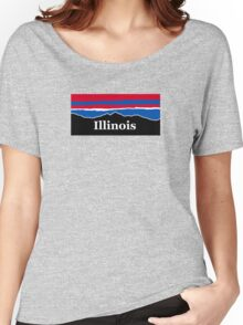 Illinois Red White and Blue Women's Relaxed Fit T-Shirt