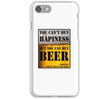BEER IS HAPINESS (beer version) iPhone Case/Skin
