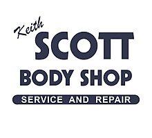 Keith Scott Body Shop Photographic Print