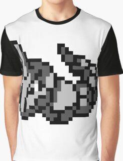 Pokemon 8-Bit Pixel Onix 095 Graphic T-Shirt