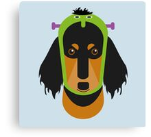 Halloween Dachshund Canvas Print