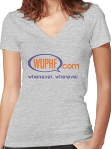 The Office: WUPHF.com Women's Fitted V-Neck T-Shirt