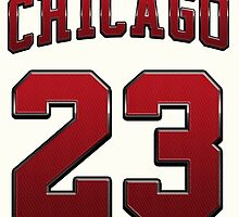 Chicago 23 Sports Number Red Basketball NBA - Football NFL by MuralDecal