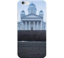 Helsinki Cathedral in fog iPhone Case/Skin