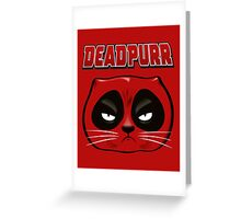 Deadpurr Greeting Card